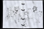 1boys 1girls alex_fox flower gadget original sit sketch // 1024x680 // 696.9KB