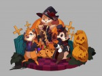 chain chip cloak costume dale dress fang flower grave halloween hat jacket pumpkin red_eyes rose scar screw sit torn_clothes umintsu vampire // 1576x1167 // 525.7KB