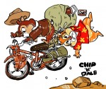 bag bike chip dale falling rock 理髪師 // 650x551 // 103.3KB