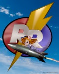 3d alistair clouds flying gadget in_air rocket rr_sign sky // 1024x1280 // 1.3MB