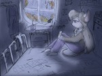 1girls alex_fox bed drawing gadget lamp overall pen pencil pillow room sadness sit sketch table window // 1024x768 // 186.8KB