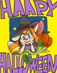1girls croquis gadget halloween pumpkin stars witch_hat // 500x641 // 284.6KB