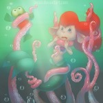 ariel bubbles cosplay crossover flounder gadget mermaid oessi sunlight tentacle the_little_mermaid zipper // 600x600 // 99.8KB