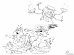 2boys chip dale food robot rockman sketch spoon stars // 2000x1488 // 1.1MB
