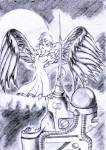 1girls angel_wings gadget nort wings // 590x828 // 105.2KB