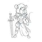 1girls alternative_hairstyle armor book darmann edit gadget short_hair sketch sword // 1100x1100 // 342.0KB