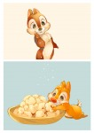 2boys chip dale food kneeling stars umintsu // 1414x1994 // 760.1KB