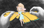 1girls butterfly crying different_size dress gadget hurt scope wings // 1329x865 // 1.4MB