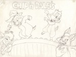 2boys 2girls abel chip dale dance dancer_dress foxglove gadget scene sketch // 784x595 // 67.0KB
