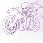 1girls bike gadget gloves helmet martin_hamsy shoes sketch // 1200x1200 // 183.3KB