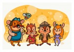 1girls 4boys chip dale gadget lydiajeanart monterey_jack watermark zipper // 1024x731 // 224.3KB