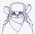 1girls coat gadget hat hat_with_ear_flaps martin_hamsy rr_sign scarf sketch // 1200x1162 // 1.1MB
