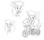 1girls bike gadget hand helmet invention scope sketch // 958x875 // 250.1KB