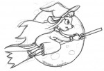 broom flying gadget moon night rem sketch sleepwear witch witch_hat // 754x513 // 47.8KB