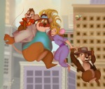 1girls 4boys chip dale falling flying gadget monterey_jack nikitina_polina town zipper // 6071x5197 // 7.7MB