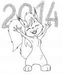 closed_eye fang fun fur lineart new_year open_mouth tongue zumki нет_автора // 1418x1658 // 599.9KB