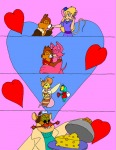 cheese cheese_spirit chip dale embrace foxglove gadget gift heart hearts in_love jdracous kiss kneeling monterey_jack queenie zipper // 545x704 // 100.8KB