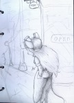 1girls alex_fox back door gadget sketch street teapot // 900x1250 // 325.5KB
