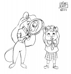 2girls crossover gadget goggles jialgri magnifier olivia_flaversham sketch the_great_mouse_detective // 574x600 // 75.5KB