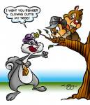 1girls 2boys animaniacs chip crossover dale larry_desouza slappy_squirrel tree // 345x400 // 37.0KB
