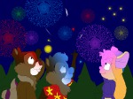 1girls 2boys chip dale finger fireworks gadget hand night tomarmstrong20 tree // 1600x1200 // 969.0KB
