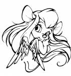1girls angel_wings emily_harrison gadget lineart wings // 397x421 // 31.9KB