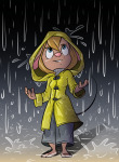1girls gadget pants rain rain_coat sweater trash // 733x994 // 568.7KB