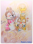 3boys chip closed_eye dale donald_duck eating fun hazelnut hearts scarf shinta // 960x1280 // 249.6KB