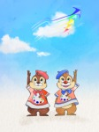 2boys beret chip clouds croquis dale palette ribbon shirt sky // 500x667 // 380.4KB