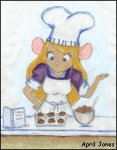 april_jones apron book chef's_hat cookies cooking cup gadget nut // 474x605 // 58.4KB
