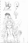 1girls gadget goddess lotus moon rain rem sketch stars sun tree whale // 1650x2464 // 1.3MB
