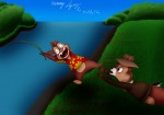 chip dale falling plants rescue river rod roman_drommy_lightyear water // 2525x1780 // 6.3MB
