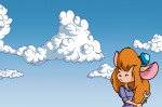 1girls clouds gadget scope sky wrench // 1061x704 // 221.5KB