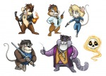 alternative_hairstyle bob_the_skull chip cosplay crossover dale fat_cat gadget gun harry_dresden janirah john_marcone karrin_murphy magic magic_fire michael_carpenter military_uniform money monterey_jack nicodemus pendant rope scalpel shirt stick sword the_dresden_files tie zipper // 665x478 // 211.5KB