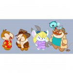 1girls 4boys chibi chip dale gadget monterey_jack tad_stones wrench zipper // 1080x1080 // 65.6KB