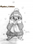 1boys coat dale hat scarf shinta sketch snow winter // 1920x2560 // 783.2KB