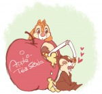 2boys apple chip dale drink hearts sit umintsu // 554x511 // 199.0KB