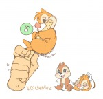 2boys chip dale diaper eating hand lying sit sleep umintsu young // 842x813 // 249.5KB