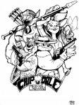 1girls 4boys alexanderlay bag bandolier chip dale gadget gun knife monterey_jack sketch zipper // 1080x1440 // 280.8KB