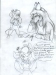 2girls alex_fox crying gadget notebook original pen sketch tears // 768x1024 // 660.8KB