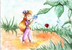1girls alex_fox closed_eye drop flower gadget leaf plants // 3510x2432 // 8.3MB