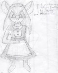 closed_eye dress gadget maid maid_headdress polecat016 sketch // 886x1110 // 214.3KB