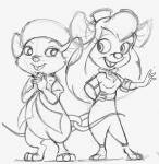 2girls crossover gadget greeniebone miss_bianca sketch the_rescuers the_rescuers_down_under // 509x521 // 63.7KB