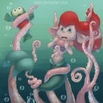 ariel bubbles cosplay crossover flounder gadget mermaid oessi tentacle the_little_mermaid zipper // 600x600 // 225.9KB