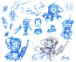 1boys 1girls crossover gadget hardsuit invention sankam sketch zipper // 1000x825 // 198.8KB