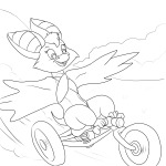 1girls foxglove invention lineart martin_hamsy tricycle // 1200x1200 // 263.6KB