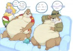 cheese chip comix dale fur gadget lying prisonsuit-rabbitman sit sofa zipper // 800x563 // 351.1KB