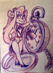 1girls costume fearlarsen gadget hat neckerchief shoes sketch watch // 1593x2169 // 985.8KB