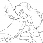 1girls drum gadget lineart martin_hamsy pants playing top // 1280x1280 // 345.6KB