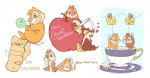 2boys apple chip cup dale diaper eating embrace food hand hearts lying sit sleep tea umintsu young // 1209x634 // 493.4KB